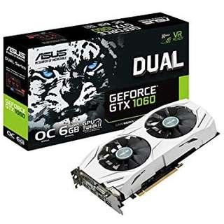 ASUS GeForce DUAL-GTX1060-O6G 6GB Graphics Card
