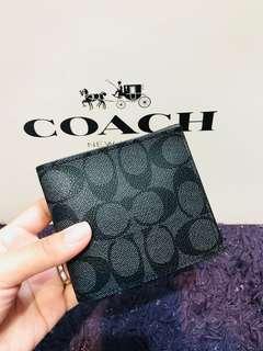 🚚 coach-型男經典短夾