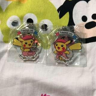 BN Pokemon Cafe Pikachu Keychains