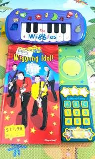 THE WIGGLES PIANO TUNES SONGDLS AND MUSICAL SOUND BOOK