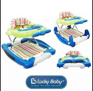 Lucky Baby Jumbo Plus 2in1 Baby Walker/Rocker