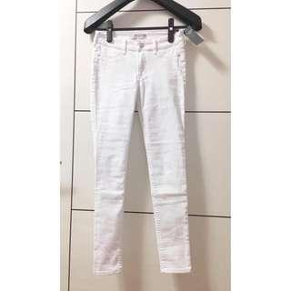 Abercrombie&Fitch x 白色牛仔長褲