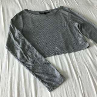(NEW) TOPSHOP Ribbed Crop Top Tee T-Shirt