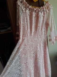 DRESS SOFT PINK BRUKAT MOST
