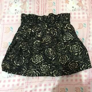 Mini skirt flowery