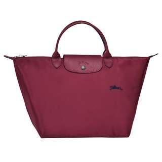 Longchamp Le Pliage Top Handle Bag M (Garnet Red)