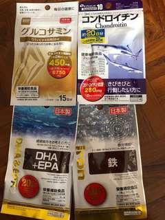 日本🇯🇵直送。日本製補充劑supplement,各款保健食品