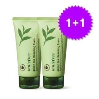 #EST50 FREE POSLAJU 30ML X 2 INNISFREE GREEN TEA CLEANSING FOAM