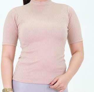 Nude Ribbed Top