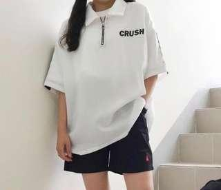 BN korean ulzzang crush zipper top
