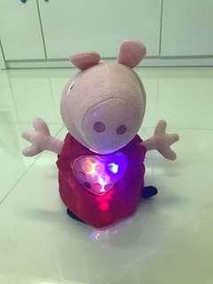 Peppa pig lights music tummy toy soft