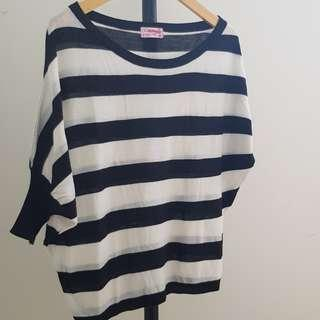 Stripe Knit Top