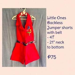 Backless Jumper shorts