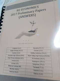 H2 Economics 2017 Preliminary Papers (Answers)