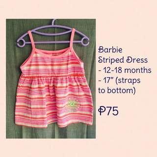 Barbie striped dress