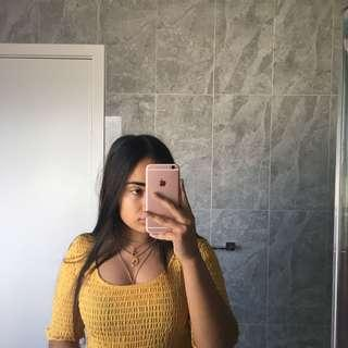 yellow top from glassons