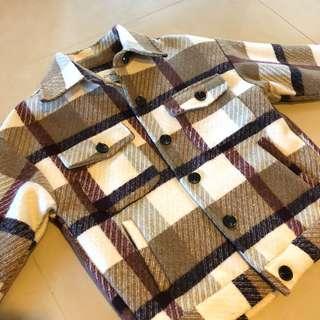 🚚 韓 格紋外套 大衣
