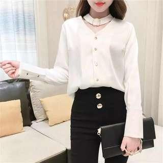 BN korean ulzzang choker blouse