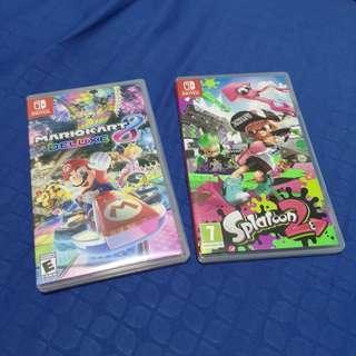 Splatoon 2 and Mario Kart 8 Deluxe for Nintendo Switch