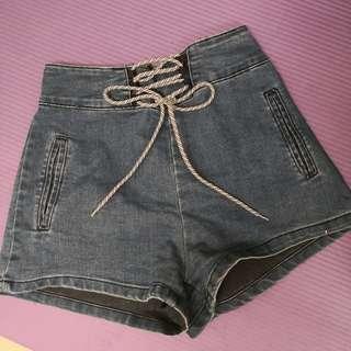 Sui Sui high waist denim shorts
