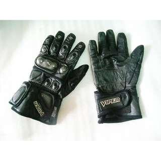 ~~~ VerY TougH  ViPeR GeNuiNe LeaTheR GLoVeS (Size L) for BiKers $38 ~~~