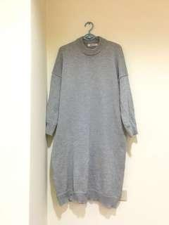🚚 淺灰色針織寬鬆裙