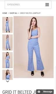 BN OHVOLA GRID IT BELTED JUMPSUIT