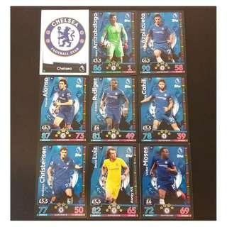 18/19 Match Attax 18 cards TEAM set #CHELSEA 車路士