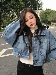 ✨PREORDER✨ denim cropped jacket