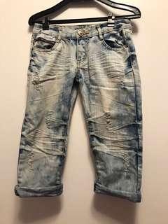 七分牛仔褲(女)