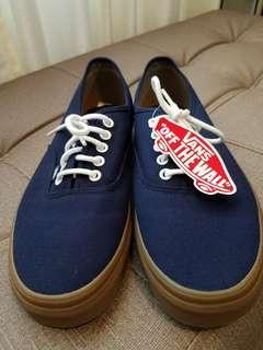Navy Blue Authentic Vans Gumsole
