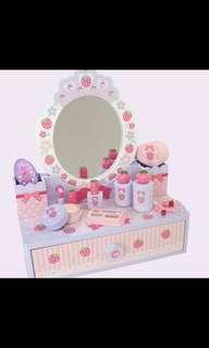 Baby purple strawberry dressing table /make up pretend play