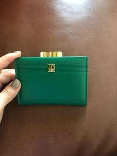 Givenchy vintage green card holder