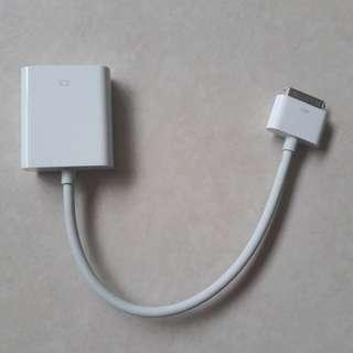 Genuine Apple 30 pin to VGA adapter