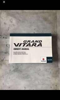 2007, 2008 Suzuki Grand Vitara car owner handbook