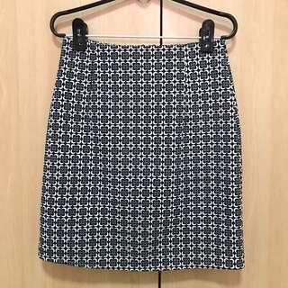 Black & White Aztec Design Skirt