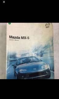 2006 To 2008 Mazda Mx5 Original Owner Handbook
