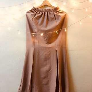Long Skirt : Light Brown #SBUX50