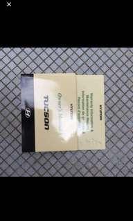 2005 To 2008 Hyundai Tucson Original Owner Handbook