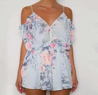 S to XL Floral Romper