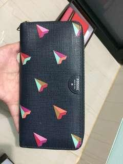 Dompet fossil navy heart