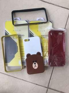 Iphone 5/5s case and tempered glass