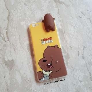 INSTOCK We Bare Bears Brown Grizzly Oppo R9S casing