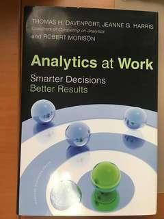 Analytics at Work: Smarter Decisions, Better Results Book by Jeanne G. Harris, Robert Morison, and Thomas H. Davenport