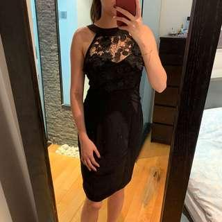 Lipsy black lace dress