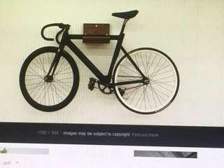 Bicycle wall rack