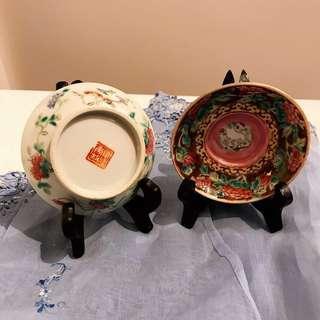 A Pair Of Antique Peranakan Porcelain