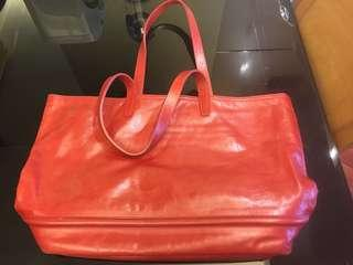 Zeha tote bag red 日本製