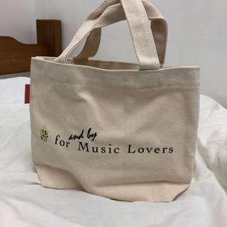 🚚 米色 muji款 帆布包 便當袋 sony
