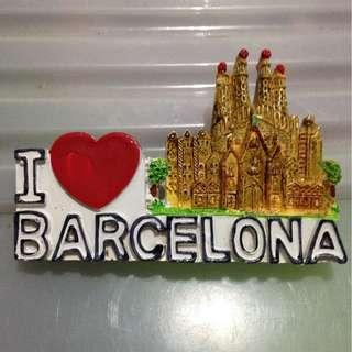 BARCELONA  Tourist Travel Souvenir 3D Resin Fridge Magnet Craft GIFT